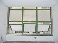 Janela de Alumínio Maxim-ar 03 Folhas com Bandeira